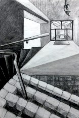 4th Perspective, size A1, charcoal