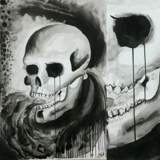 Skull, size A1, ink