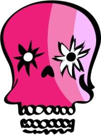 Pink skull, vector image, Illustrator