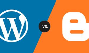 perbedaan utama antara blogger dan wordpress