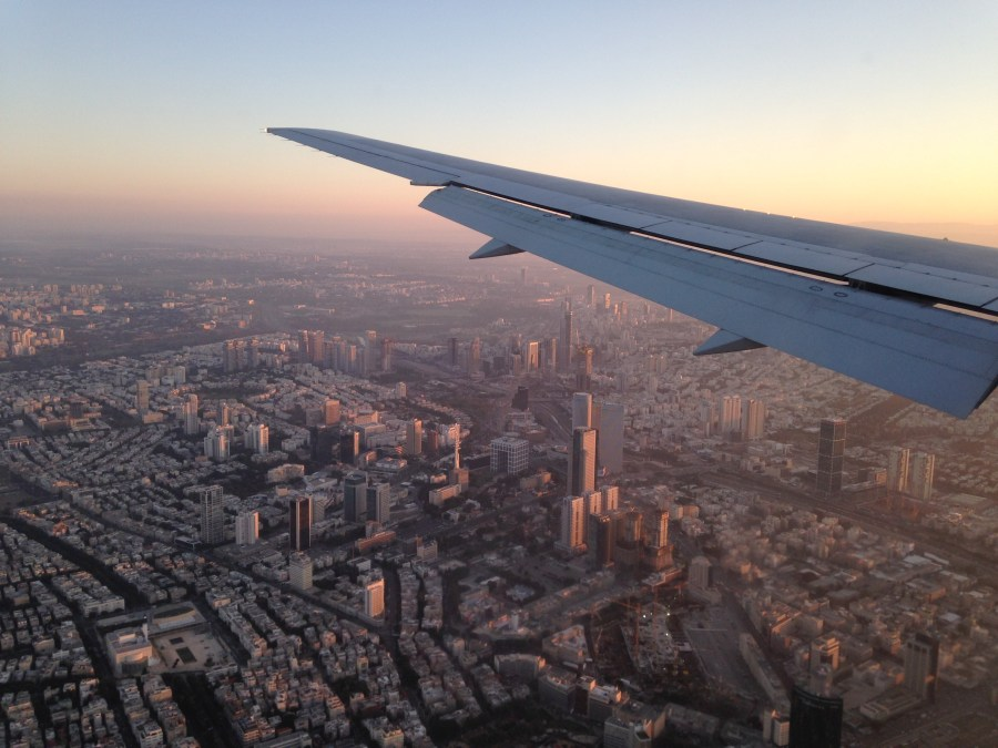 Flying into Tel Aviv