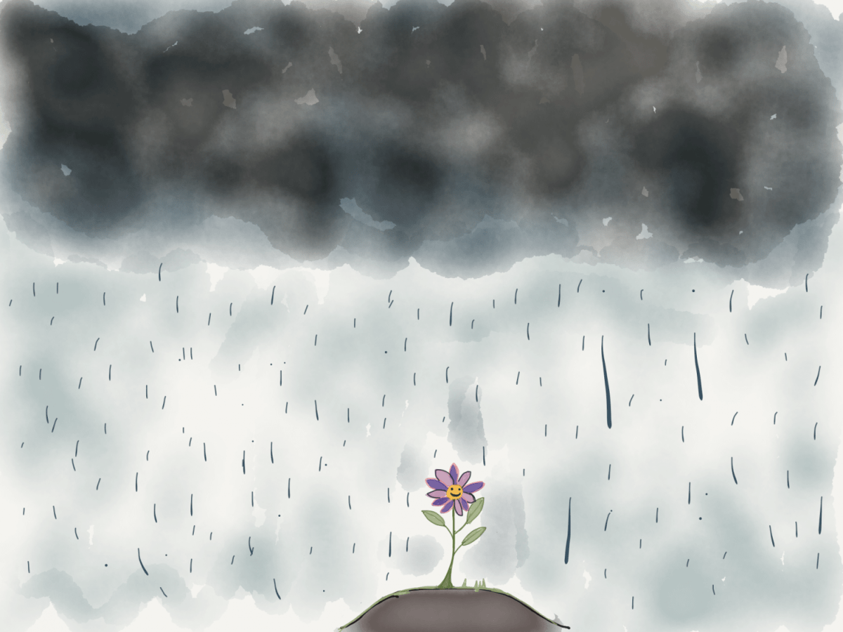 A drawing for a little girl who is afraid of storms