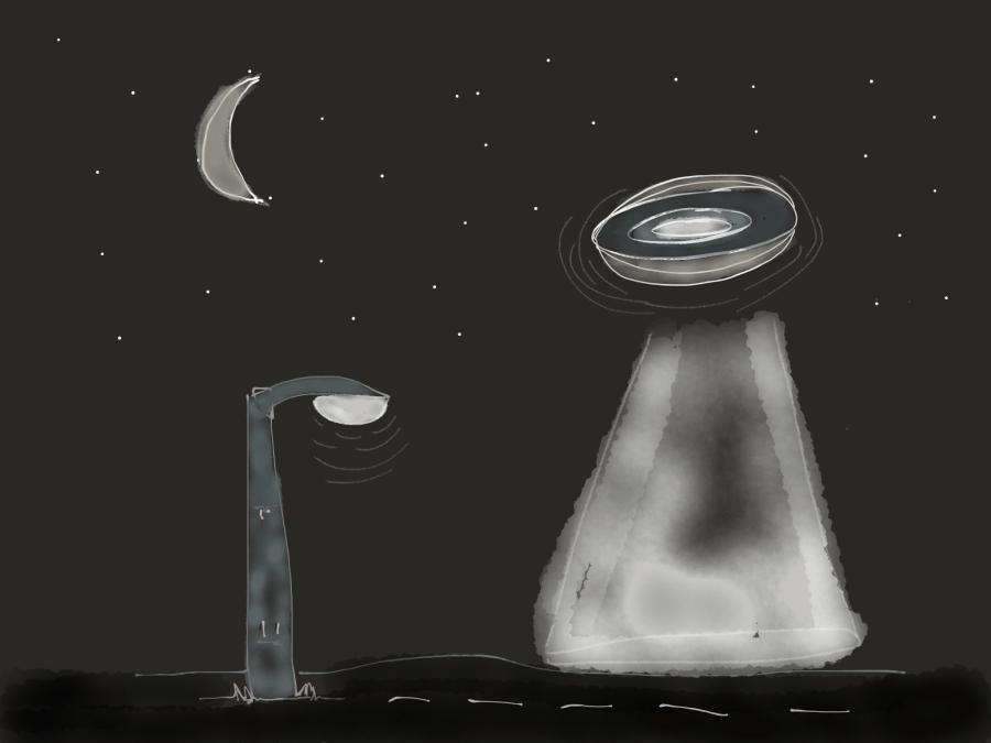 Flying saucer versus streetlight