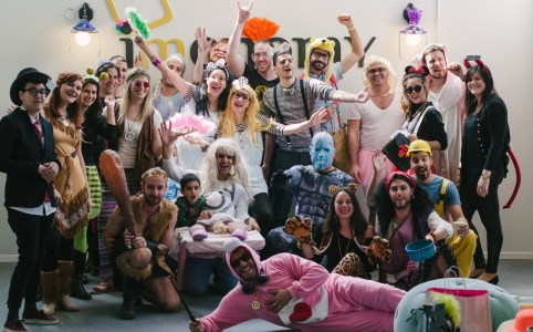 Scenes from the imonomy office Purim party