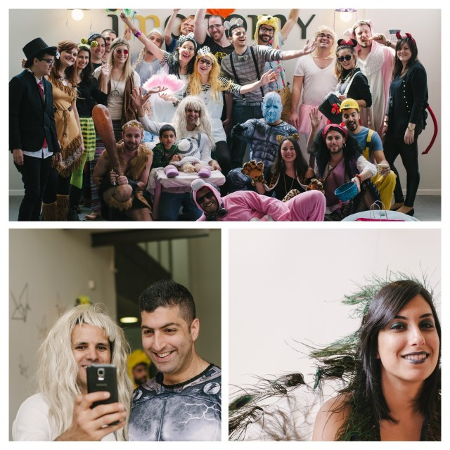 Office Purim party photos