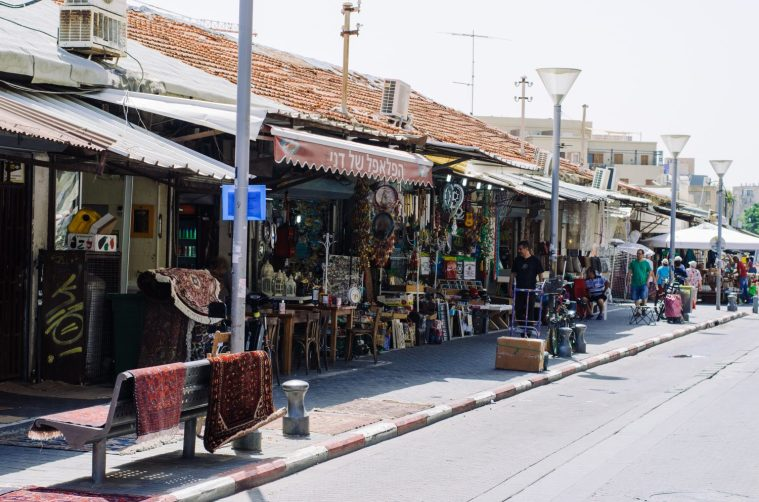 One of the many street markets.