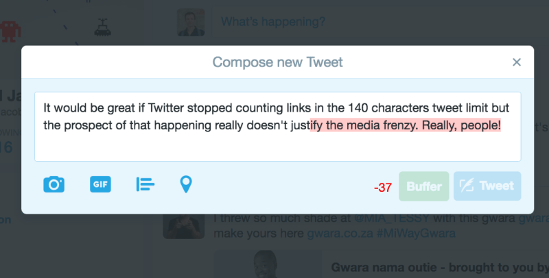 More than 140 characters