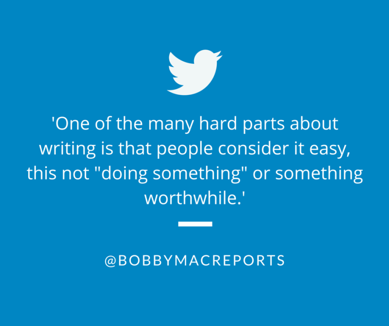 About writing and people's attitudes towards writing