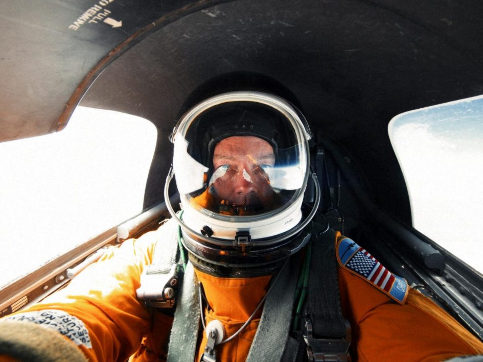 A view from inside a U-2 spy plane