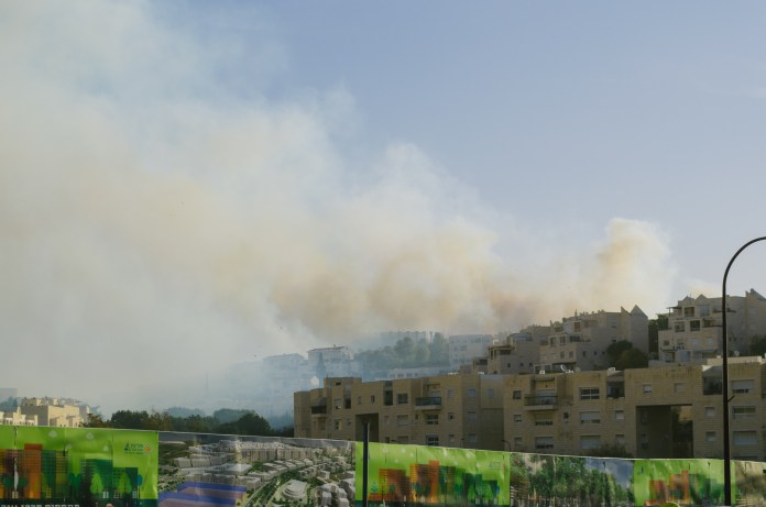 There are fires in parts of Israel and, today, they reached the outskirts of my city.