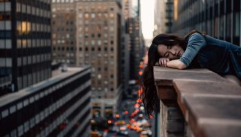 Woman sleeping, not a morning person
