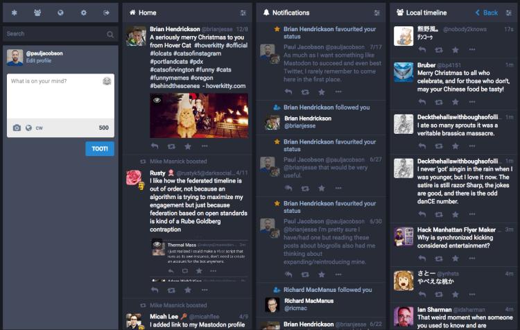 The Mastodon.social timeline