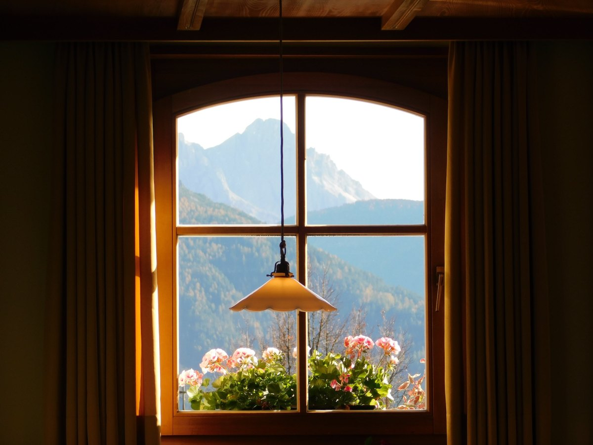Window out to mountains