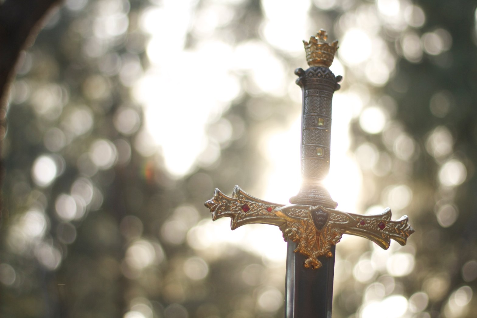 Sword with sunlight