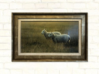 September Evening Paul James Original Artwork Sheep Framed