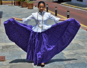 A Panamanian girl in traditional dress