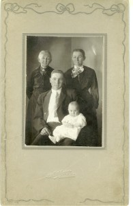 Earl Leroy Kiser holding his daughter Velma June with his mother Arminda Nixon and his grandmother Anna McFadden