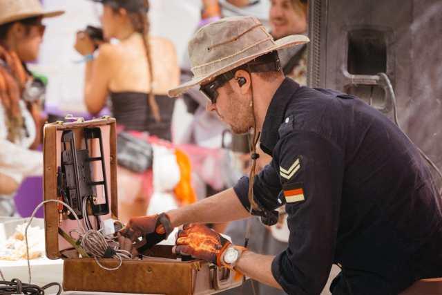 Briefcase Burning Man