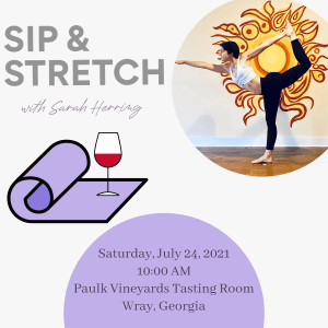 Sip & Stretch with Sarah Herring (July)