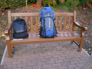 My stuff, carried around all day. One in front, one at the back on my shoulders.