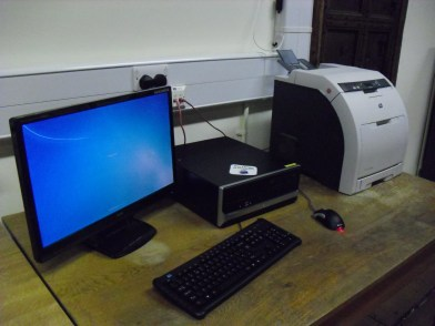 New computer sets in the library