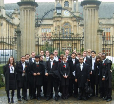 Lots of people dressed like this (http://obliviousinoxford.blogspot.co.uk/2010/12/michaelmas-exams.html)