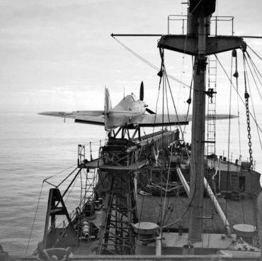 SSS_Hawker-Sea-Hurricane-Mark-I-on-board-Catapult-Armed-Merchantman-595x593