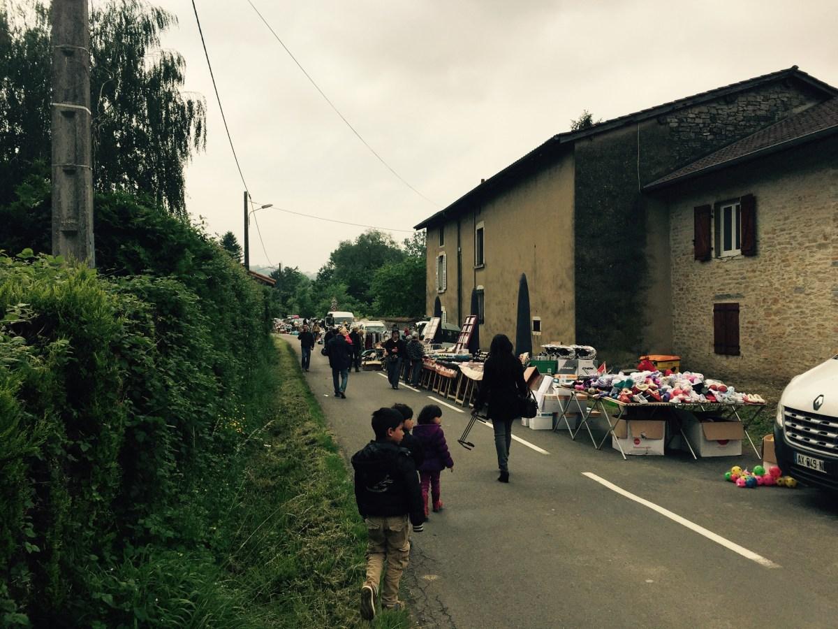 Weekend village street stalls