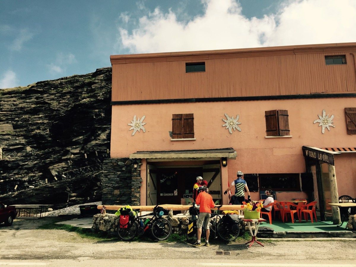 Cafe at sumit of Mont Cenis