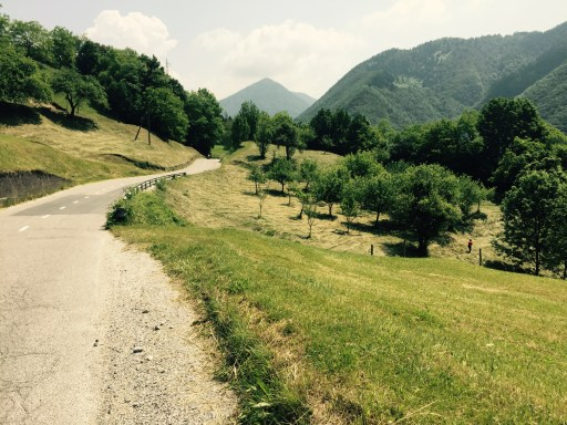 Hill road from Tolmin