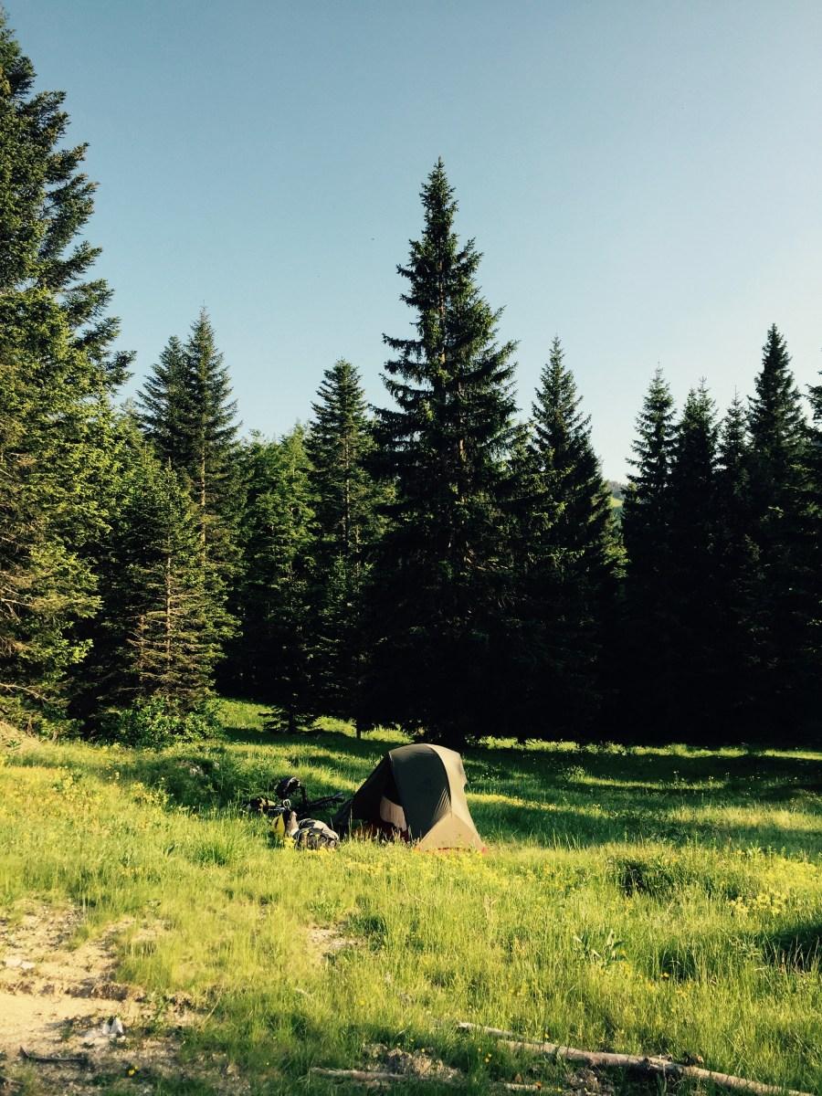 Camping near the Bohinjsko Seldo pass