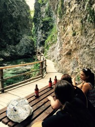 Drink at the Vintgar, gorge, Bled