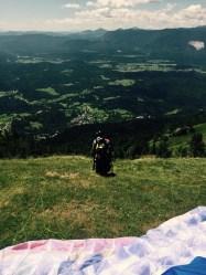 Ready to paraglide, Dobrča, Slovenia