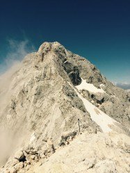 Ridge line to Triglav summit