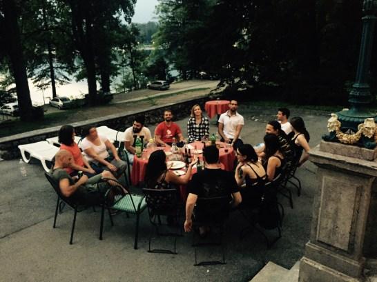 Saying goodbye, Villa Victoria Bled Slovenia