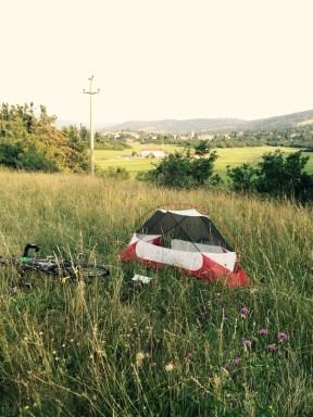 Slovenian camping spot