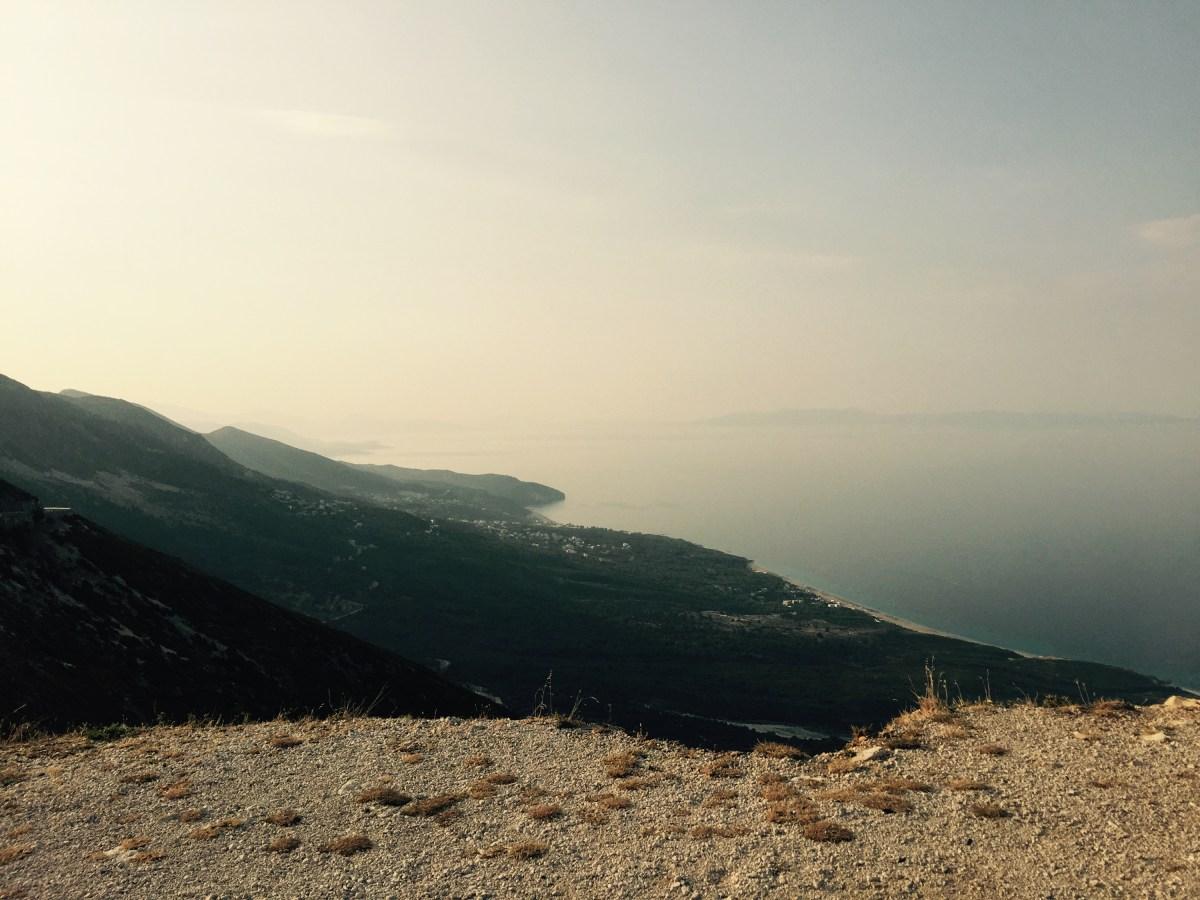 View from Llogar pass, Albania