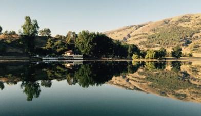 Restaurant on lake near Gjirokaster, Albania