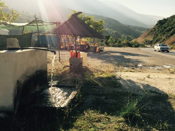 Truck stop, PÃ«rmet valley, Albania
