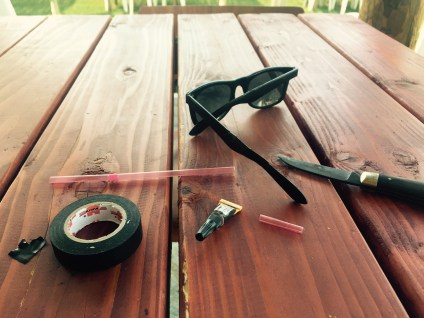 Fixing sunglasses