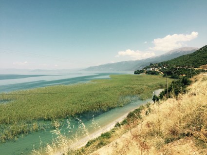 Lake Ohrid, Macedonia Albania border