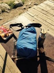 Bodged dry-bag backpack, Mt Musala, Bulgaria