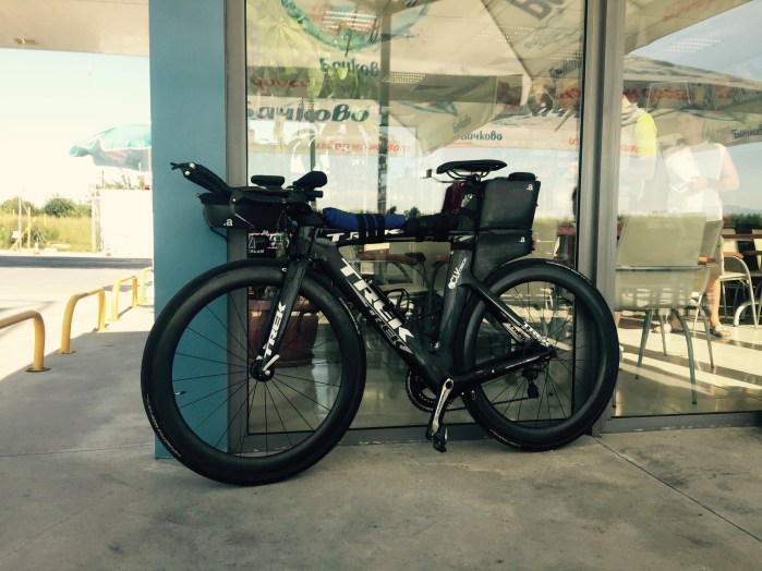 Time Trial bike of Ultan Coyle, Trans Continental racer, Bulgaria
