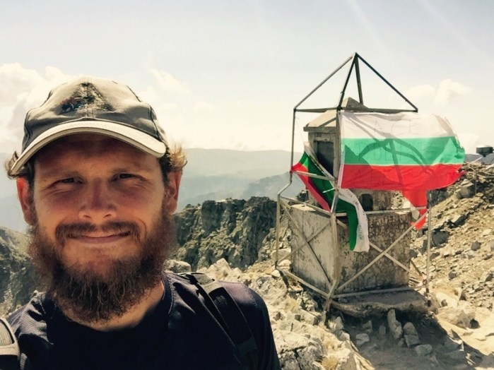 Paul Ferguson, summit of Mt Musala, Bulgaria