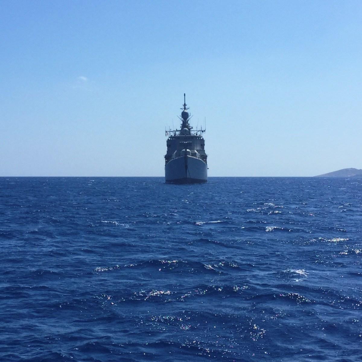 Greek warship