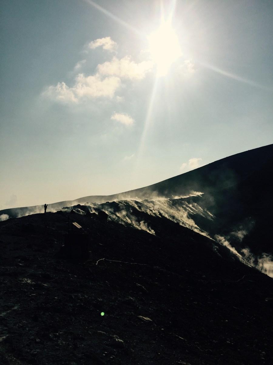 Sulfur vents on Vulcano, Italy