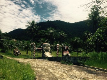 Cycling the BR-101, abandoned Christmas theme park, Brazil