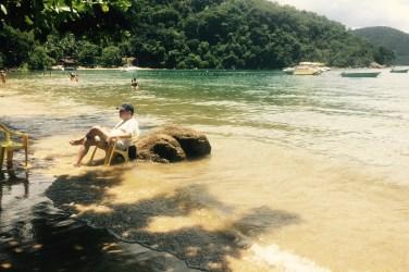 Relaxing on the beach, Ilha Grande, Brazil