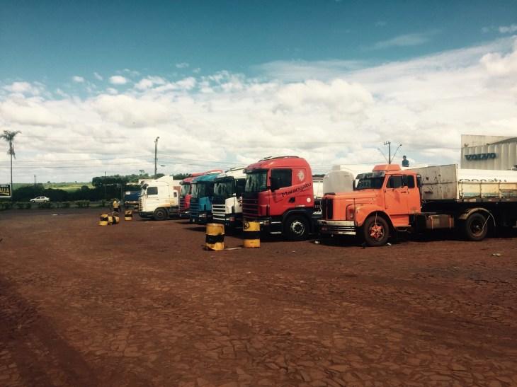 Truck stop, Paraná, Brazil