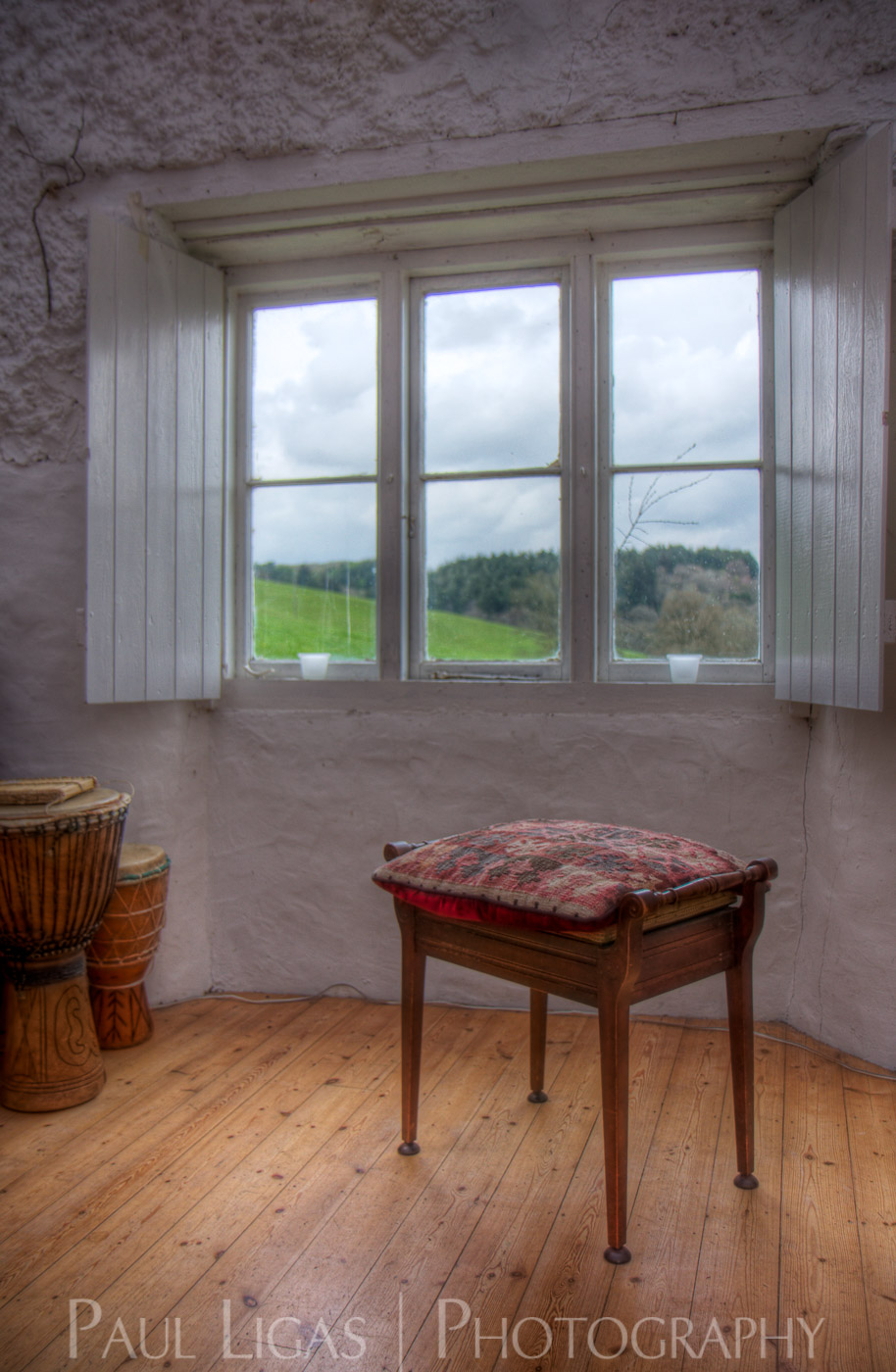 Stool and window, interior design photographer photography property hereford 3151